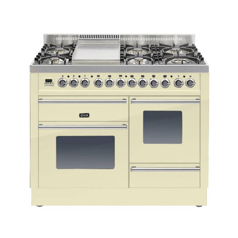 ILVE Roma Dual Fuel 110 6 Burner Fry Top Cream primary image