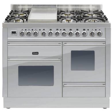 ILVE Roma Dual Fuel 110 6 Burner Fry Top S/St
