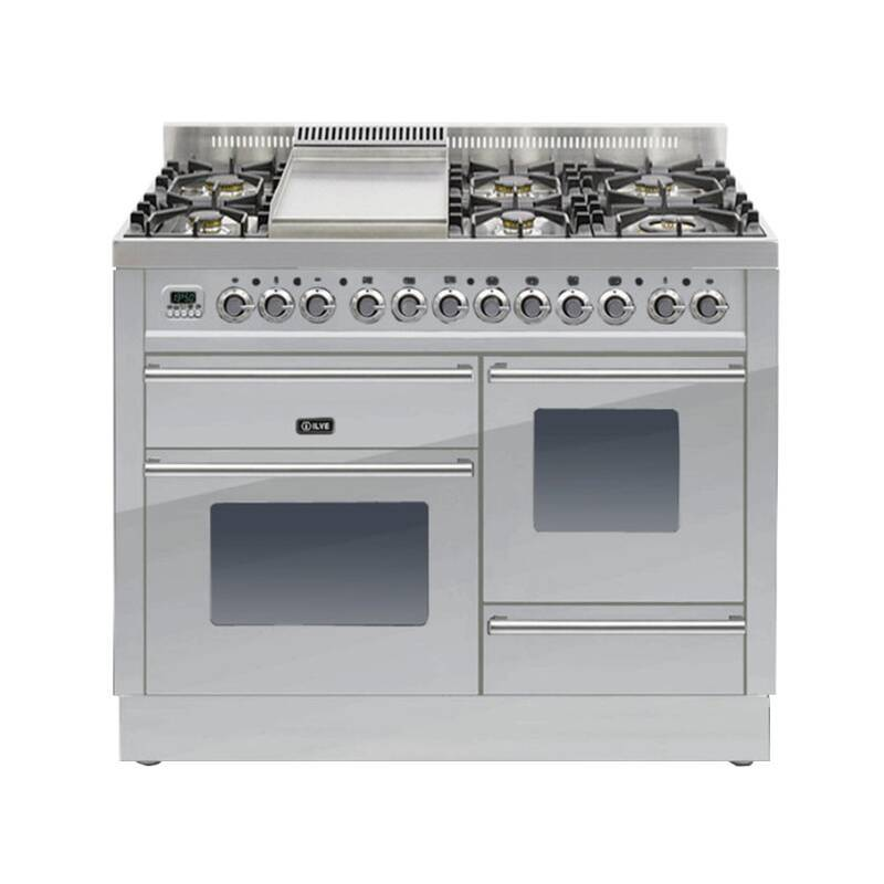 ILVE Roma Dual Fuel 110 6 Burner Fry Top S/St primary image