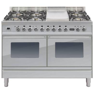 ILVE Roma Dual Fuel 120 6 Burner Fry Top S/Steel