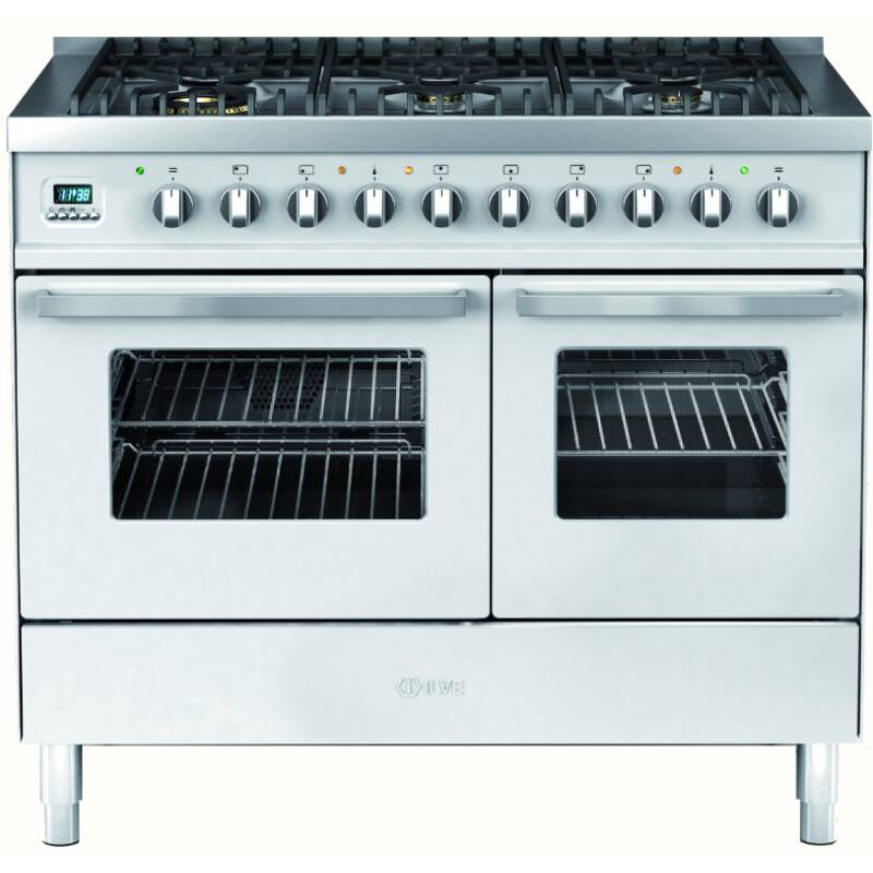 Ilve Venezia 100cm Twin Range Cooker 6 Burner Stainless Steel primary image