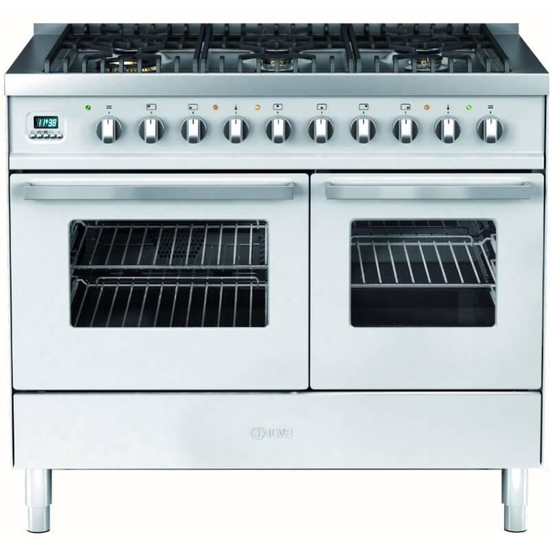 Ilve Venezia 100cm Twin Range Cooker 6 Burner Stainless Steel primary image