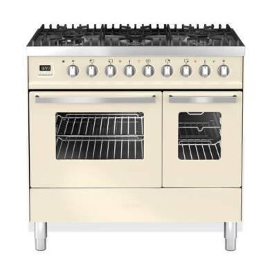 Ilve Venezia 90cm Twin Range Cooker 6 Burner Cream