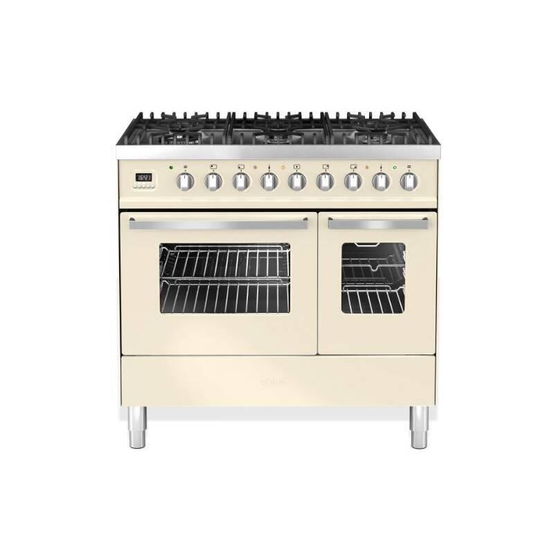 Ilve Venezia 90cm Twin Range Cooker 6 Burner Cream primary image