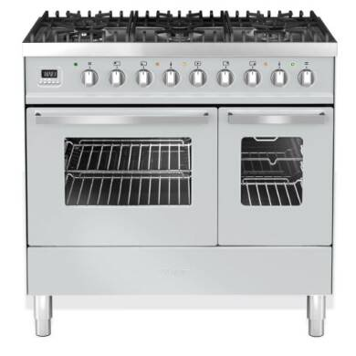 Ilve Venezia 90cm Twin Range Cooker 6 Burner Stainless Steel