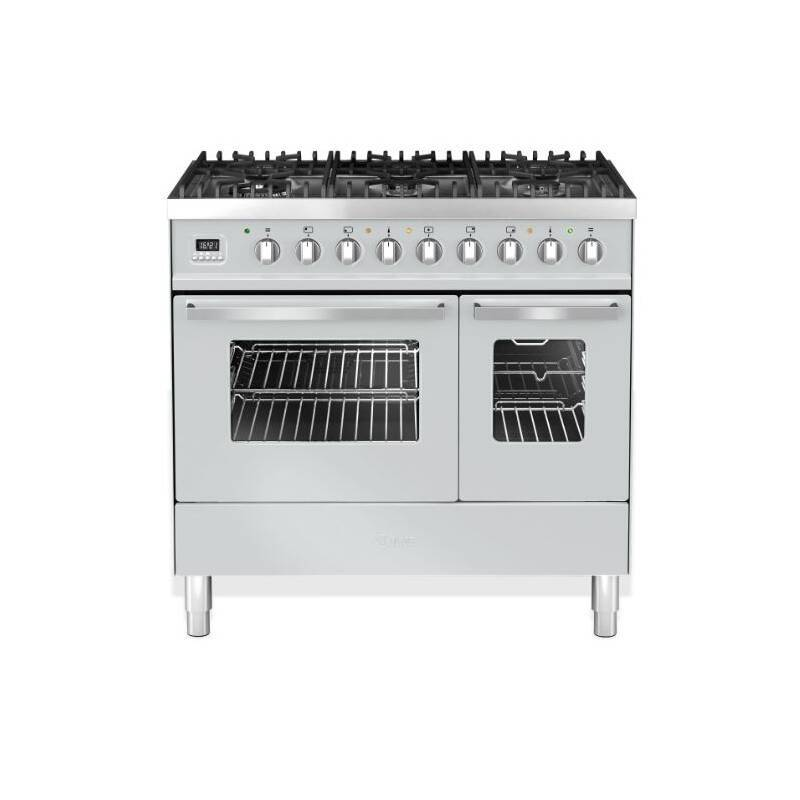Ilve Venezia 90cm Twin Range Cooker 6 Burner Stainless Steel primary image