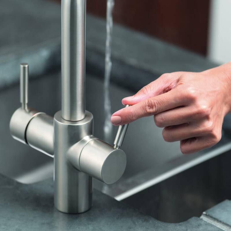 Insinkerator 3N1 Swan Neck Hot Water Tap Brushed Steel additional image 2