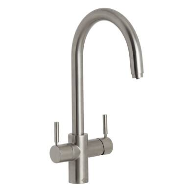 Insinkerator 3N1 Swan Neck Hot Water Tap Brushed Steel