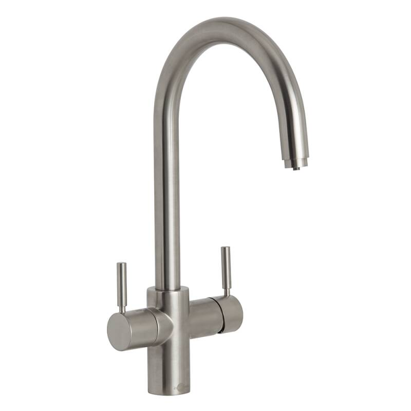 Insinkerator 3N1 Swan Neck Hot Water Tap Brushed Steel primary image