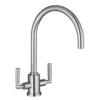 Leo Tap Brushed Steel - High/Low Pressure