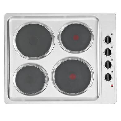 Matrix H38xW585xD500 Solid Plate Hob - Stainless Steel