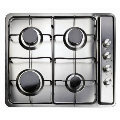 Matrix H45xW580xD500 4 Zone Gas Hob - Stainless Steel