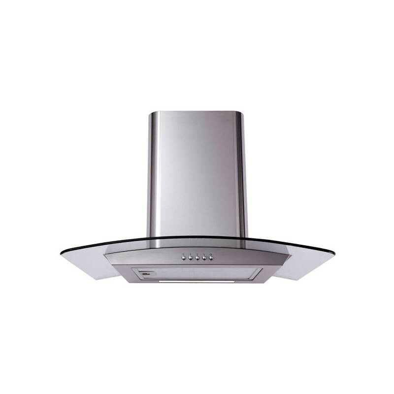 Matrix H530xW600xD490 Curved Glass Chimney Cooker Hood - Stainless Steel primary image