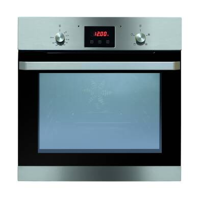Matrix H595xW595xD575 Single Fan Oven With Timer Clock - stainless steel
