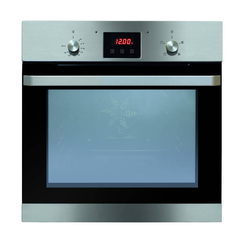 Matrix H595xW595xD575 Single Fan Oven With Timer Clock - stainless steel primary image