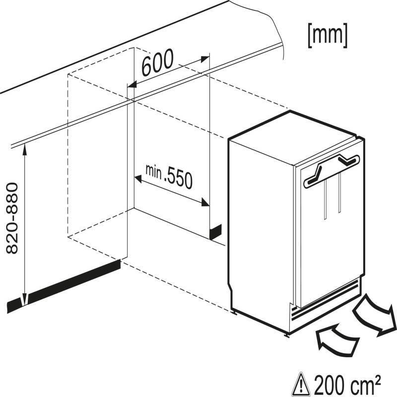 Miele H818xW597xD550 Built Under Freezer additional image 3