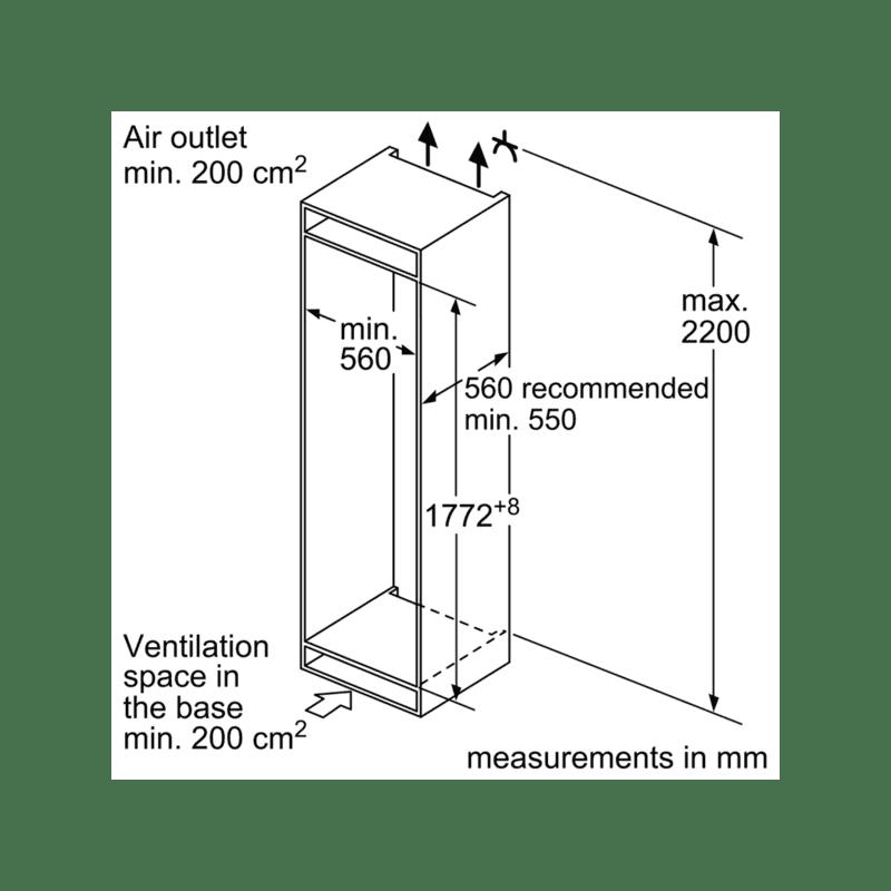 Neff H1772xW541xD545 Integrated 50/50 Fridge Freezer additional image 8