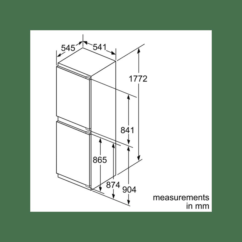 Neff H1772xW541xD545 Integrated 50/50 Fridge Freezer additional image 9