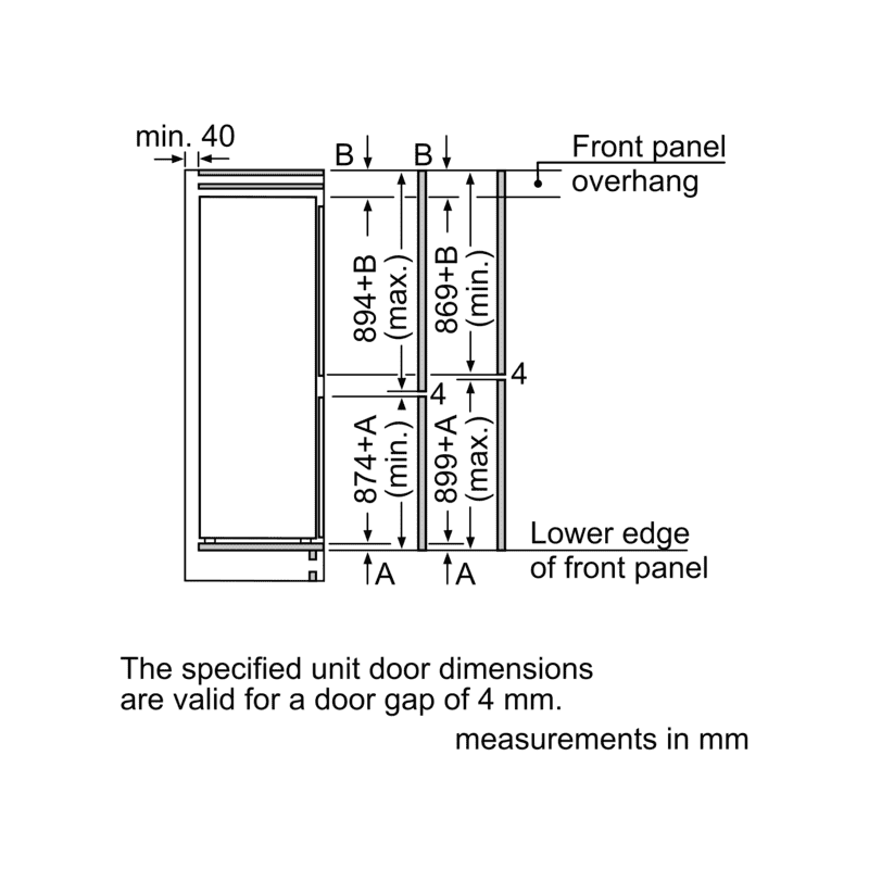 Neff H1772xW558xD545 Integrated 50/50 Frost Free Fridge Freezer additional image 1