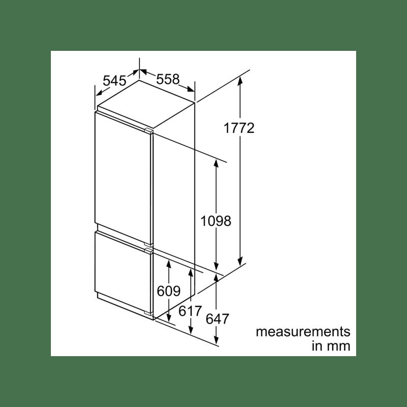 Neff H1772xW558xD545 Integrated Fridge Freezer additional image 2