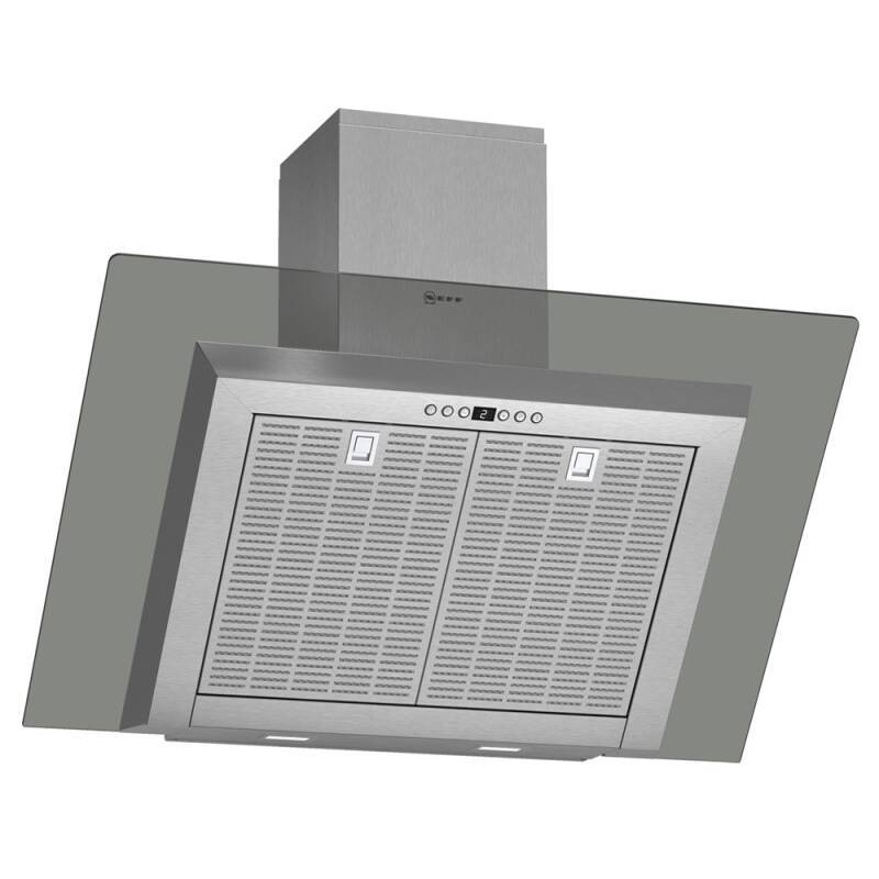 Neff H441xW900xD865 Chimney Cooker Hood - Stainless Steel and Grey Glass primary image