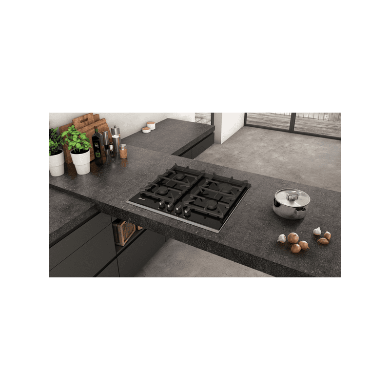Neff H45xW606xD546 Gas 4 Burner Hob With FlameSelect-Black additional image 3