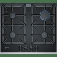 Neff H45xW606xD546 Gas 4 Burner Hob With FlameSelect-  Black