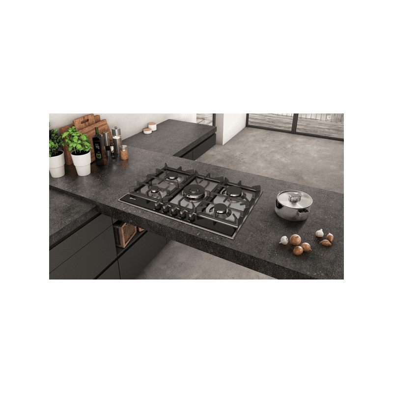 Neff H45xW750xD520 Gas 5 Burner Hob With FlameSelect-S/Steel additional image 1