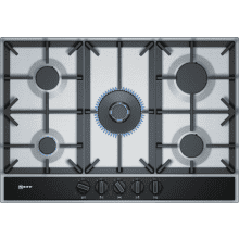 Neff H45xW750xD520 Gas 5 Burner Hob With FlameSelect-S/Steel