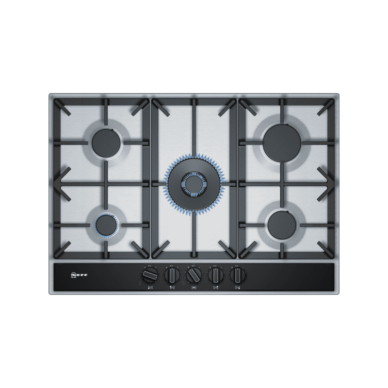 Neff H45xW750xD520 Gas 5 Burner Hob With FlameSelect-S/Steel primary image