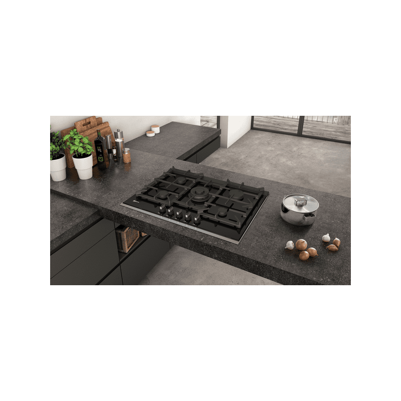 Neff H45xW750xD546 Gas 5 Burner Hob With FlameSelect - Black additional image 3
