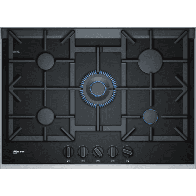 Neff H45xW750xD546 Gas 5 Burner Hob With FlameSelect - Black