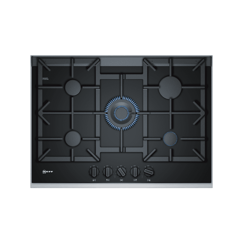 Neff H45xW750xD546 Gas 5 Burner Hob With FlameSelect - Black primary image