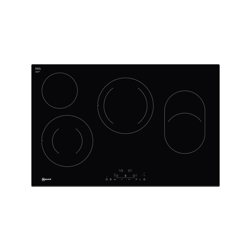 Neff H45xW802xD522 Ceramic 4 Zone Hob - Black primary image