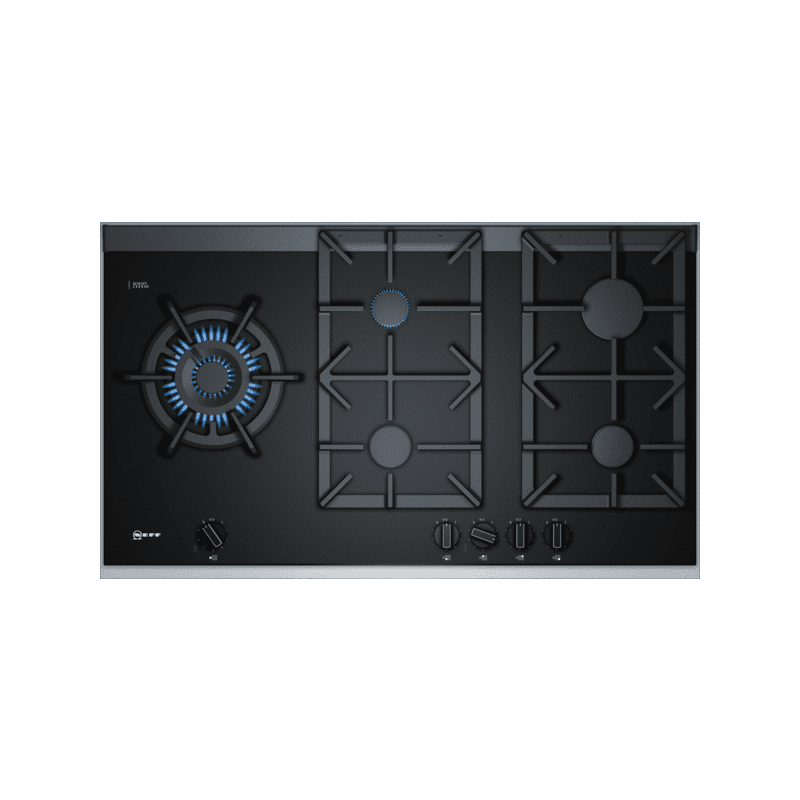 Neff H45xW918xD546 Gas 5 Burner Hob With FlameSelect-Black primary image
