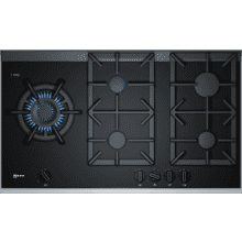 Neff H45xW918xD546 Gas on Glass 5 Burner Hob With FlameSelect
