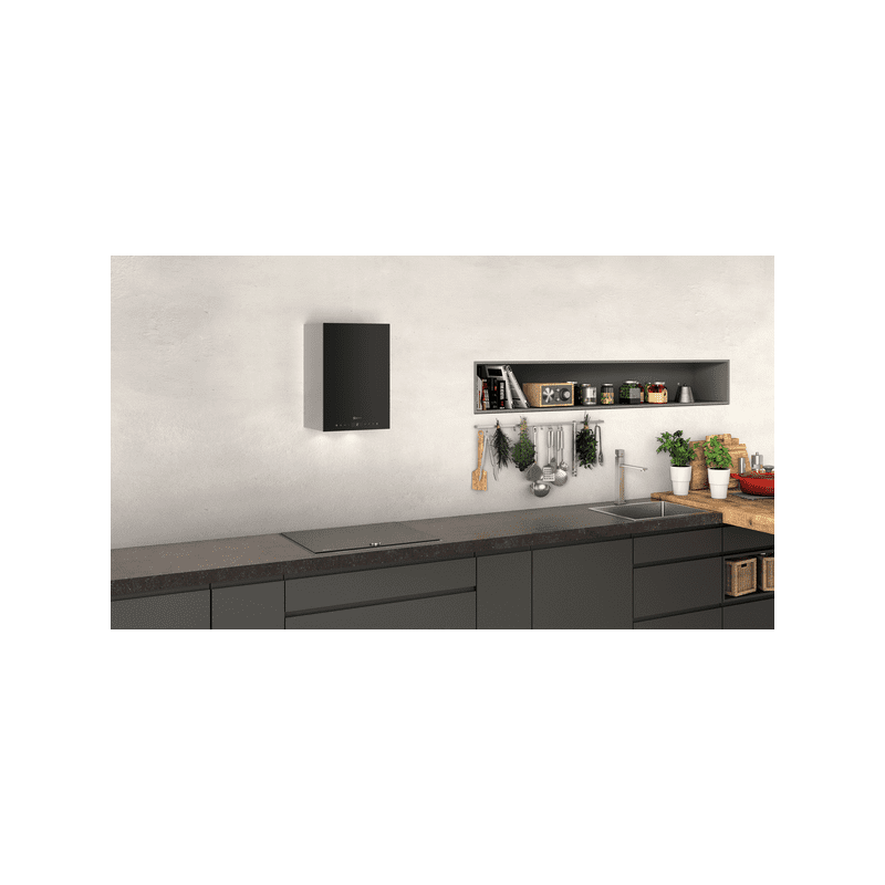 Neff H501xW330xD291 Cube Chimney Hood - Black additional image 2