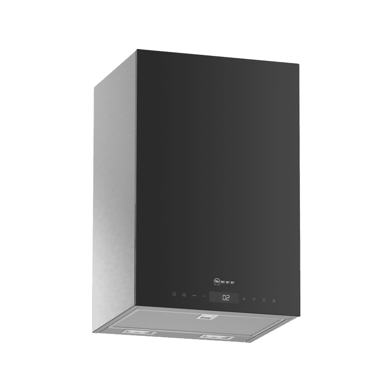 Neff H501xW330xD291 Cube Chimney Hood - Black primary image