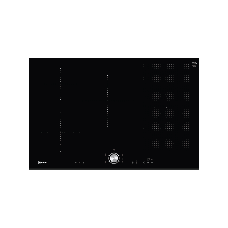 Neff H51xW802xD522 FlexInduction 5 Zone Hob - Black primary image