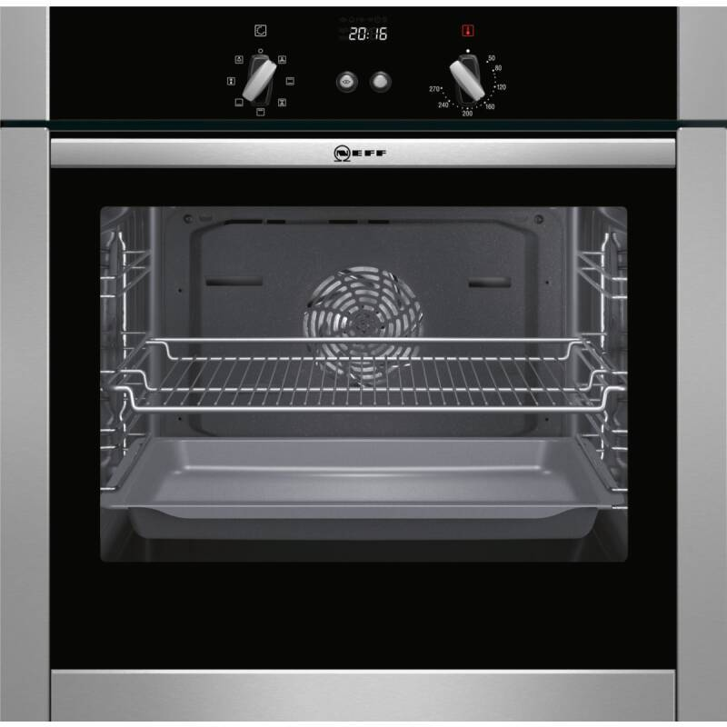 Neff H595xW595xD550 Single Multifunction Oven - Stainless Steel - Slide & Hide primary image