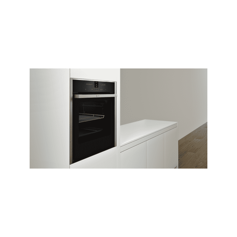 Neff H595xW596xD548 N70 Single Multifunction Pyrolytic Oven - Stainless Steel - Slide & Hide additional image 1