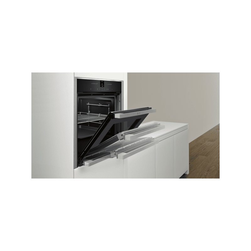 Neff H595xW596xD548 N70 Single Multifunction Pyrolytic Oven - Stainless Steel - Slide & Hide additional image 3