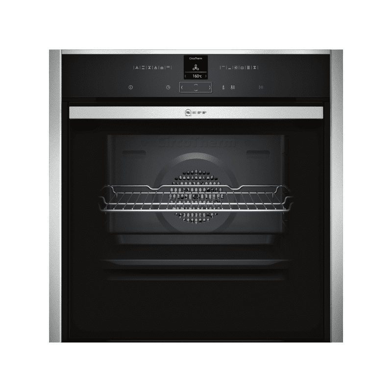 Neff H595xW596xD548 N70 Single Multifunction Pyrolytic Oven - Stainless Steel - Slide & Hide primary image