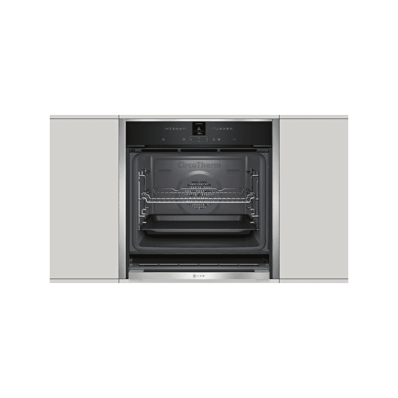 Neff H595xW596xD548 Single Multifunction Oven - Stainless Steel - Slide & Hide additional image 2