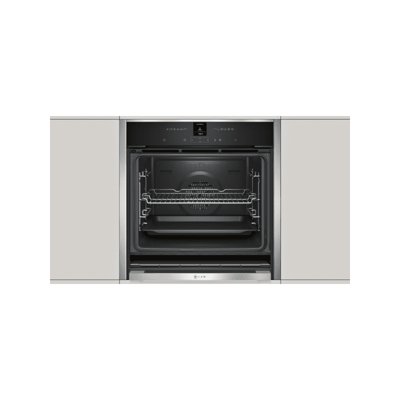 Neff H595xW596xD548 Single Multifunction Pyrolytic Oven - Stainless Steel - Slide & Hide additional image 2