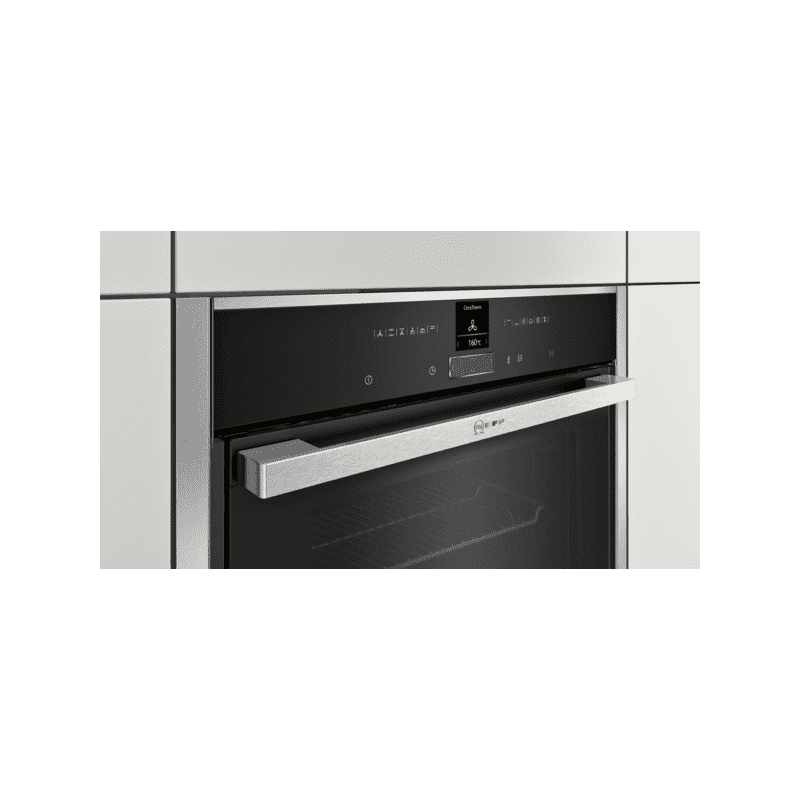 Neff H595xW596xD548 Single Multifunction Pyrolytic Oven - Stainless Steel - Slide & Hide additional image 4
