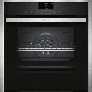 Neff H595xW596xD548 Single Multifunction VarioSteam Pyrolytic Oven - Stainless Steel