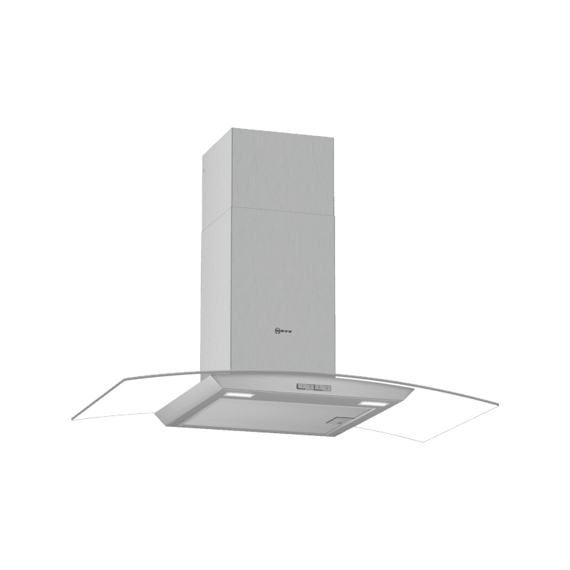 Neff H617xW900xD488 Curved Glass Chimney Hood primary image