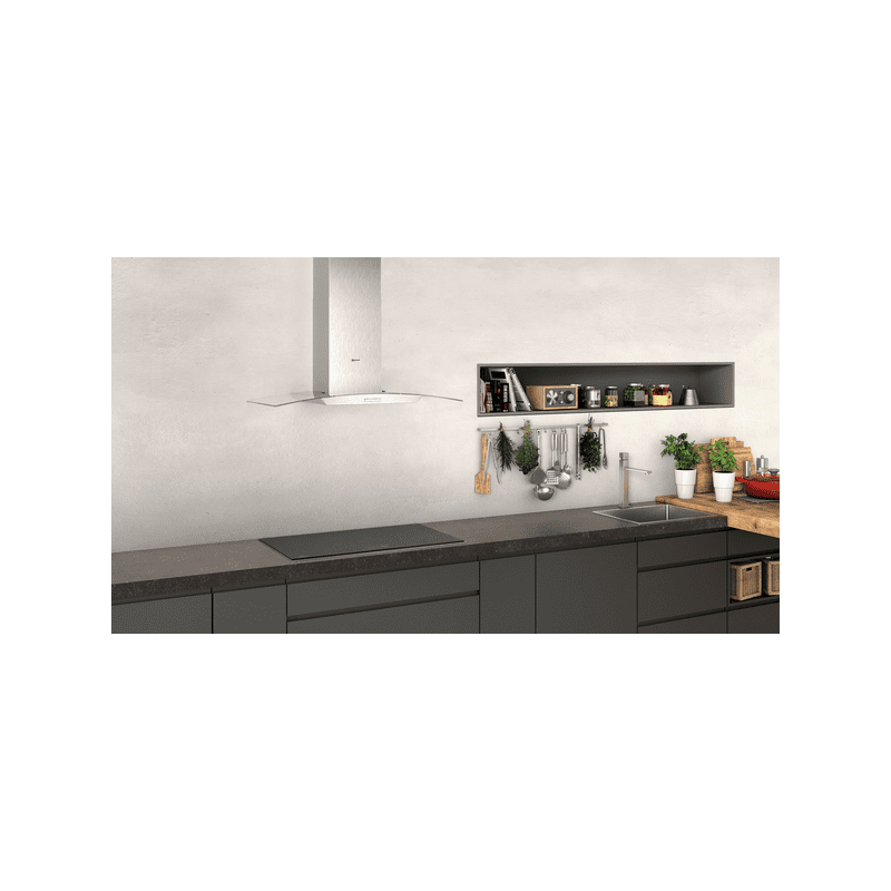 Neff H617xW900xD488 Curved Glass Chimney Hood additional image 3