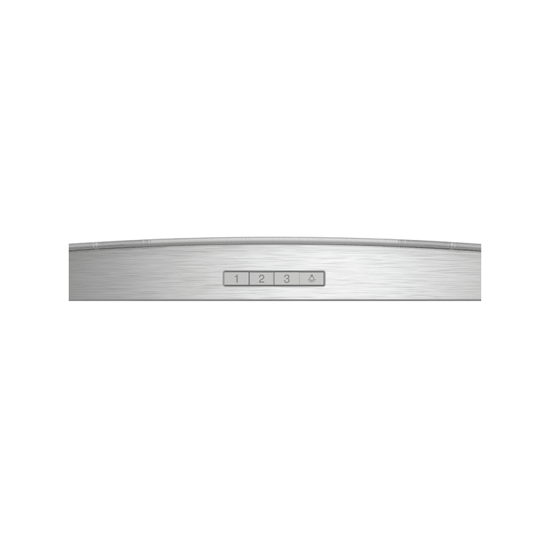 Neff H617xW900xD488 Curved Glass Chimney Hood - Stainless Steel additional image 1